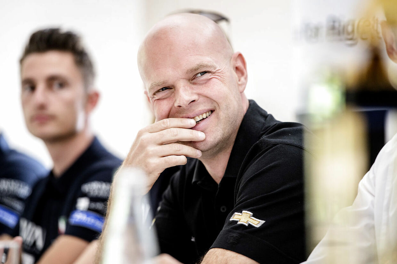 Peter Nygaard peger på Jan Magnussen som den bedste af de to Magnussen'er, når det kommer til rent naturtalent som racerkører. Her ses Jan Magnussen i forbindelse med et pressemøde ved Le Mans, 2016.