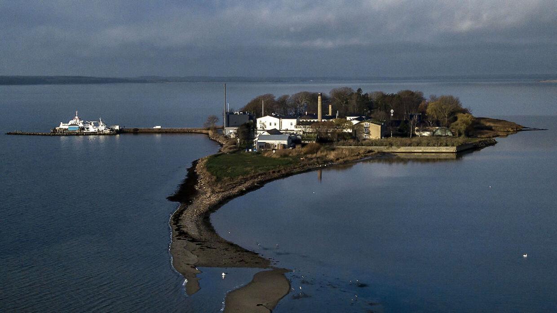 Udviste kriminelle udlændinge skal ud på Lindholm Ø. Lindholm Ø onsdag den 5. december 2018.