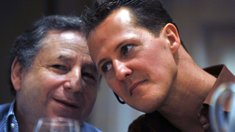 Jean Todt og Michael Schumacher sammen tilbage i 2009 - før Schumachers skiuheld.