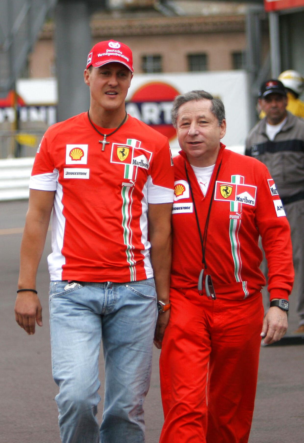 Michael Schumacher og Jean Todt sammen i 2007.