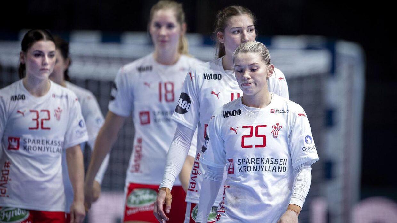 Det var en flok skuffede danske landsholdsspillere, der gik fra banen efter opgøret mod Frankrig.