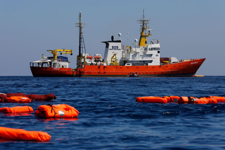 Den seneste redningsaktion udført af Aquarius var i oktober 2018, da skibet sejlede til Marseille efter at have reddet 58 personer. (Arkivfoto) Pau Barrena/Ritzau Scanpix