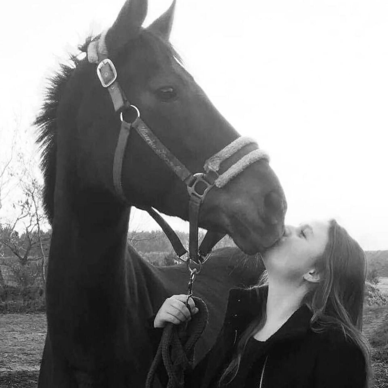 Hesten Pixie var Carolines bedste ven, fortæller hun grådkvalt til B.T. (Privatfoto)
