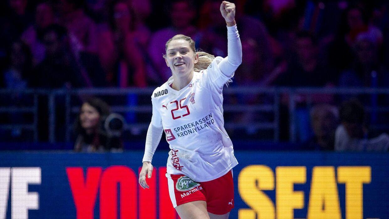Danmarks Trine Østergaard under kampen mellem Danmark-Polen i Nantes, søndag den 2 december 2018.