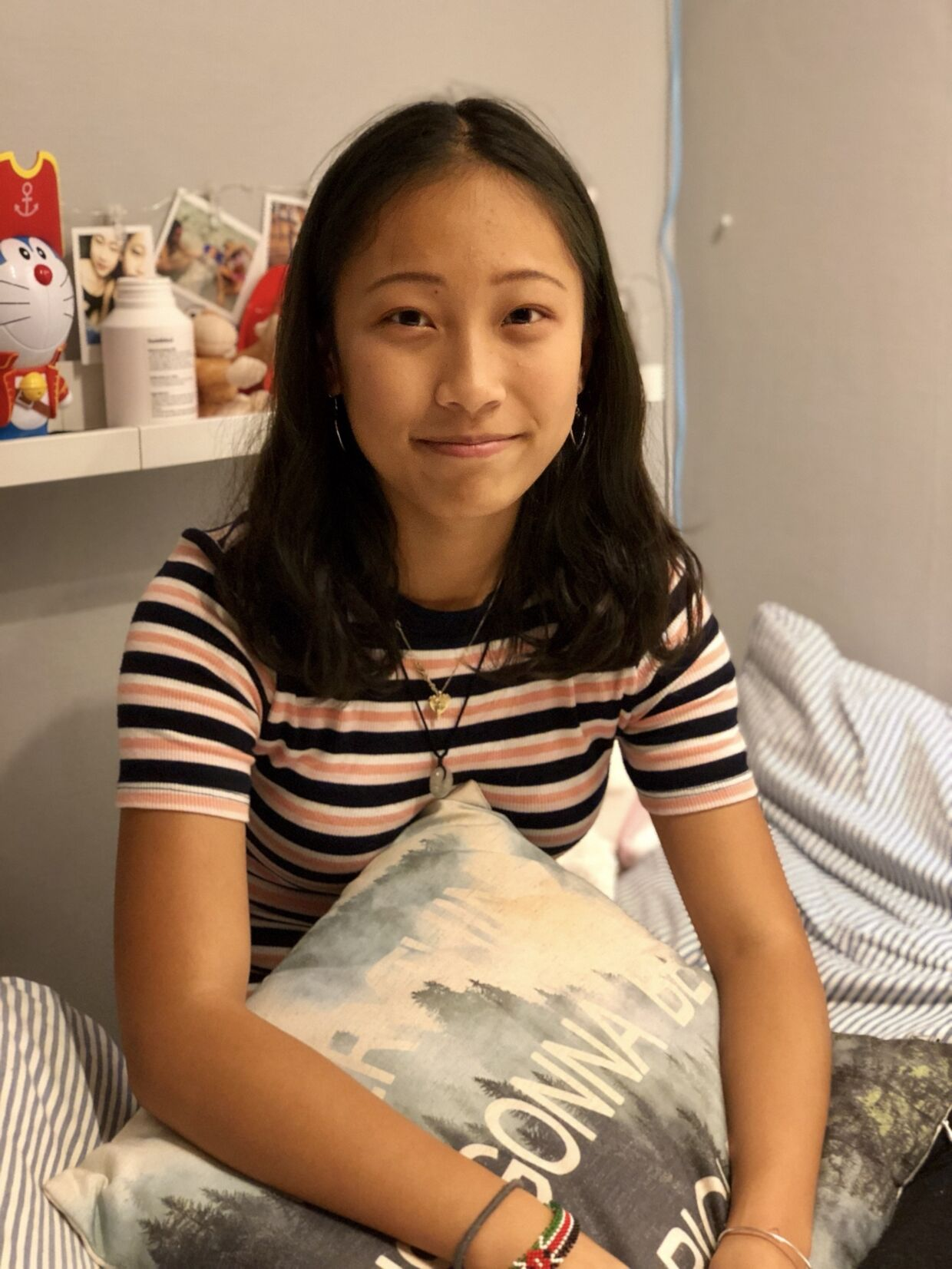 »Jeg vågnede op og råbte mor, mor,« fortæller 15-årige Yiming om at mareridt, hvor hun drømte, at hun blev sat på et fly til Kina. For hende var det heldigvis kun et mareridt.