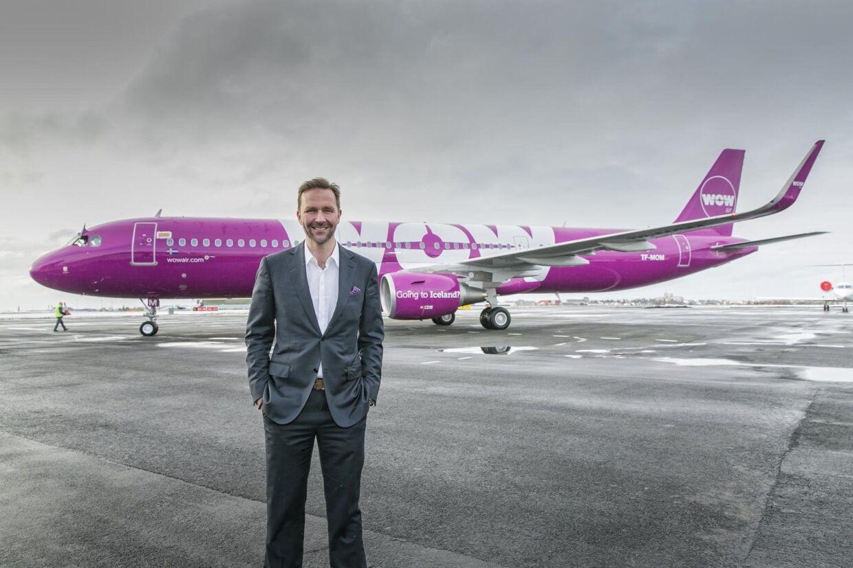 Stifter og administrerende direktør i flyselskabet, Wow Air, Skuli Mogensen. Pressefoto