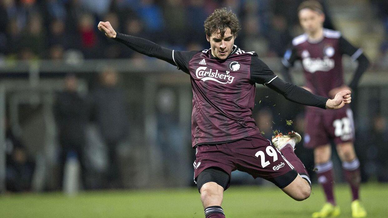 Peter Sørensen mener ikke, at Robert Skov ramte niveauet i Europa League (Foto: Claus Fisker/Ritzau Scanpix)