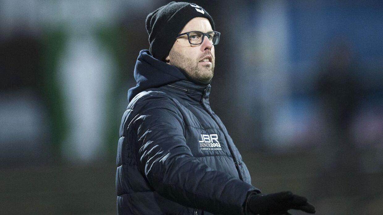 Claus Nørgaard under kampen mellem SønderjyskE og F.C. København.