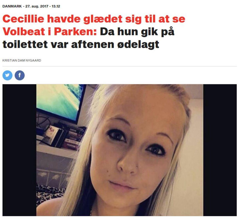 Historien om Cecillie gik i 2017 viralt.