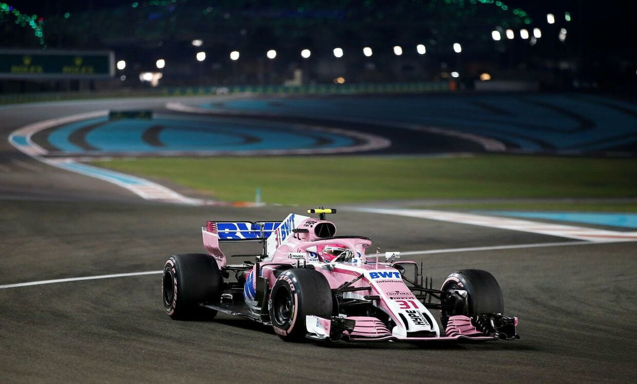 Esteban Ocon fra Racing Point Force India i Abu Dhabi.