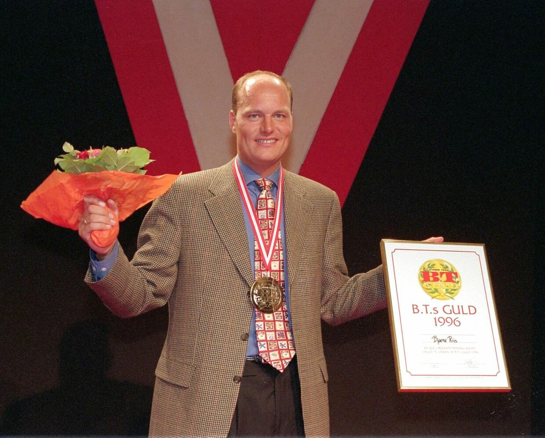 Bjarne Riis vandt BT Guld tre gange i sin aktive karriere. Her i 1996.