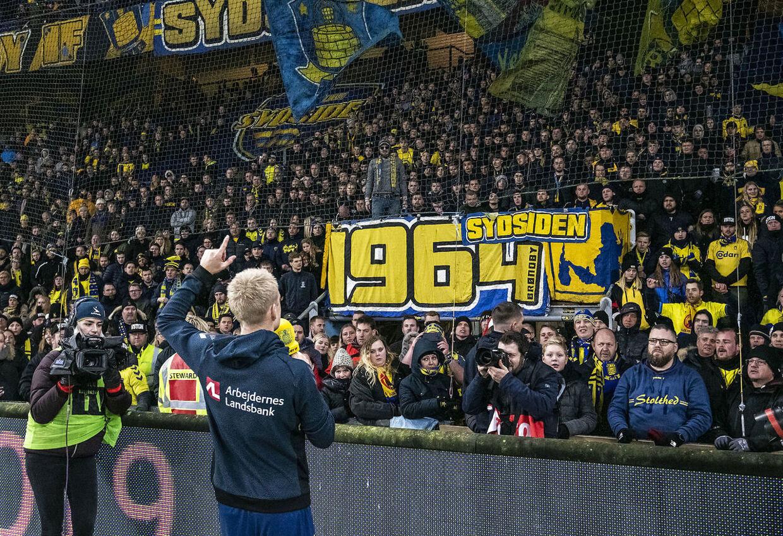 Johan Larsson sagde farvel til Brøndbys fans i årets sidste kamp hjemme på Brøndby Stadion.