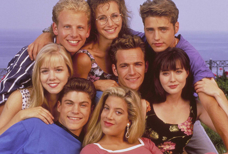 Beverly Hills 90210-castet som de så ud i 90'erne.