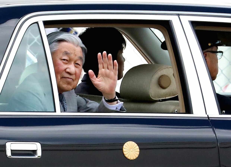 Kejser Akihito. Billedet her er fra Okinawa 28. marts 2018.