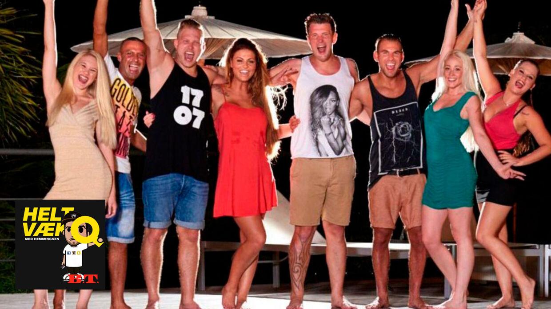 Martin Vinther (nummer fem fra venstre) holder pause fra reality-tv, men vender nok snart tilbage til skærmen.