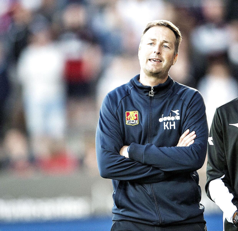 Kasper Hjulmand har endnu ikke forlænget sin aftale i FC Nordsjælland, der udløber til sommer. Hjulmand overvejer nu sine muligheder. (Foto: Henning Bagger/Ritzau Scanpix)