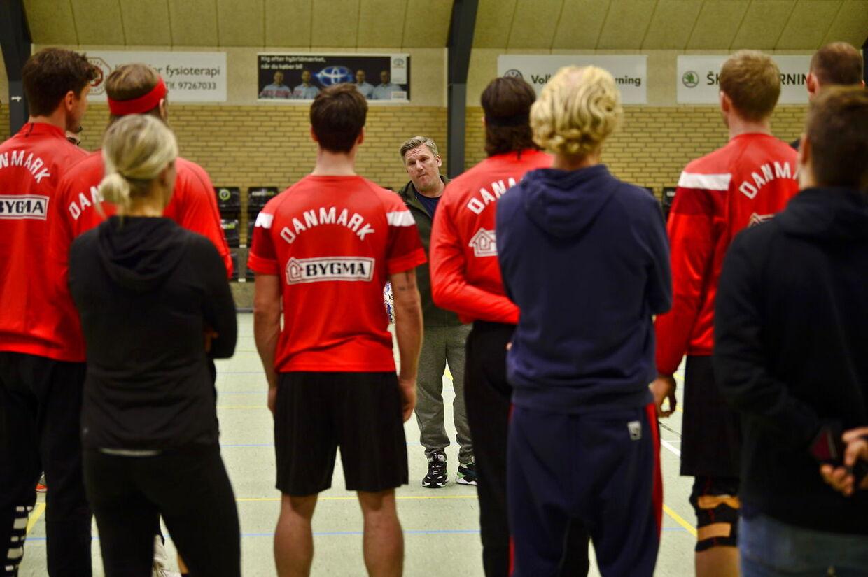 Det danske herrelandshold træner forud for håndbold -VM, der spilles i januar i Danmark og Tyskland.