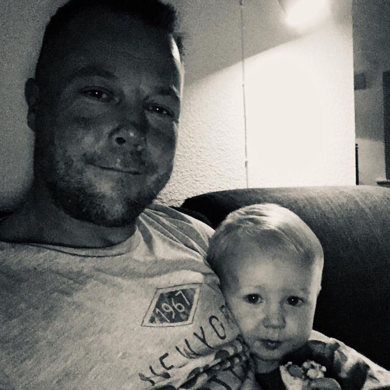 Jack med sin søn.