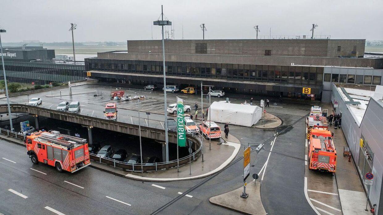 Hannover Lufthavn er i øjeblikket lukket ned.