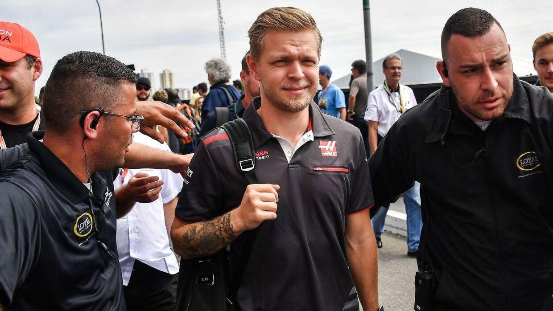 Kevin Magnussen i Sao Paulo i november inden Brasiliens Grand Prix.