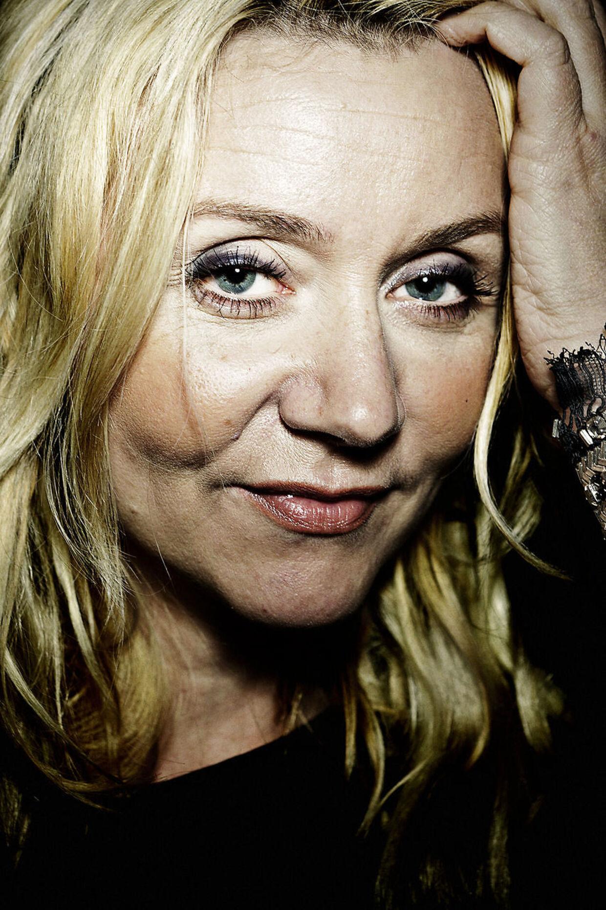 Pernille Aalund på hjemmebane.