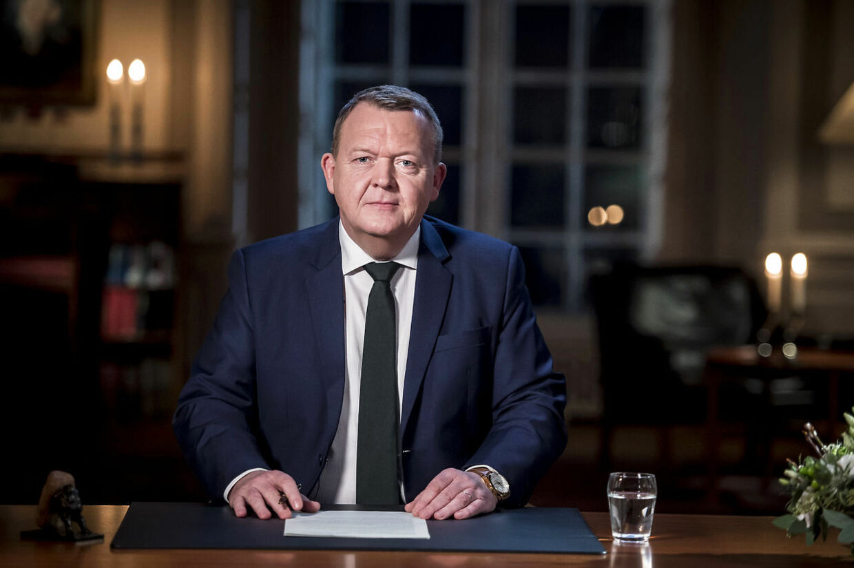 Statsminister Lars Løkke Rasmussen holder nytårstale i Statsministeriet i København, tirsdag den 1. januar 2019. (Foto: Mads Claus Rasmussen/Ritzau Scanpix)