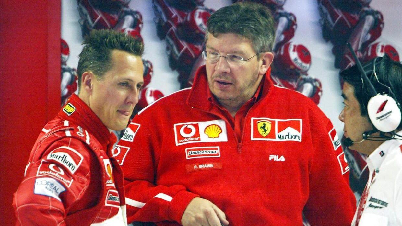 Ross Brawn (th.) har kendt Schumacher-familien i mange år.