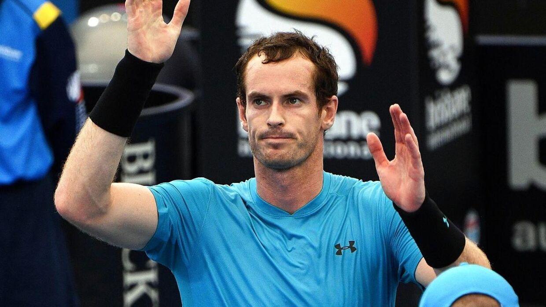 Andy Murray vandt sin første kamp i år tirsdag.