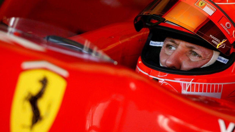 Schumacher kom til skade på en skiferie i 2013. Siden har information om hans tilstand været sparsom. (Photo by JOSE LUIS ROCA / AFP)