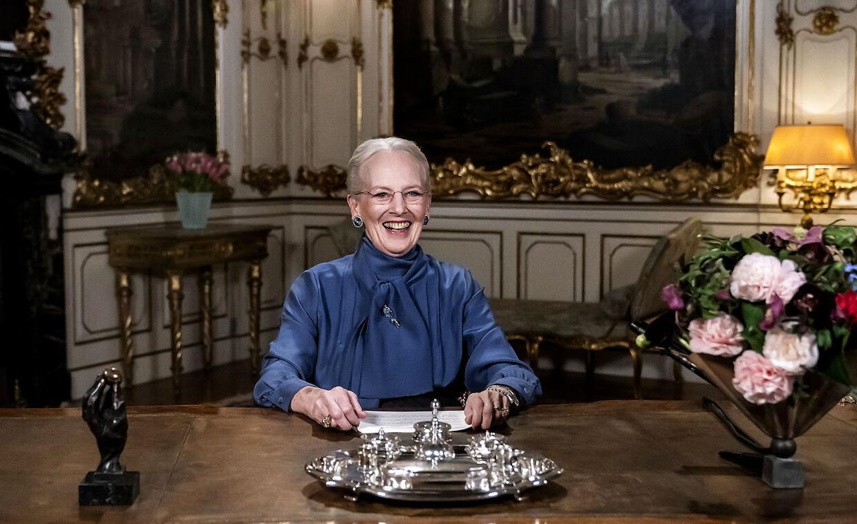 Dronning Margrethe holder nytårstalen på Fredensborg Slot, mandag den 31. december 2018. (Foto: Keld Navntoft /Ritzau Scanpix 2018)