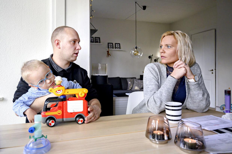 Stine Aagaard Hansen og Kim Sørensen. Kim er bonusfar til Magnus.