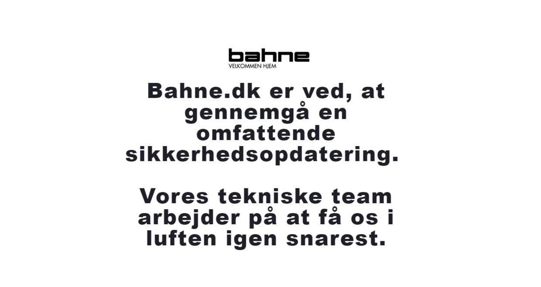 Sådan ser Bahnes hjemmeside ud i øjeblikket.