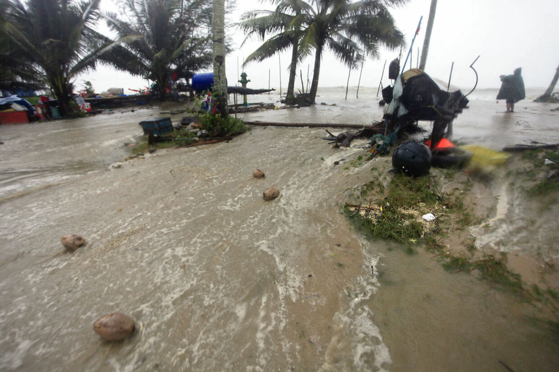 Her rammer stormen provinsen Nakhon Si Thammarat