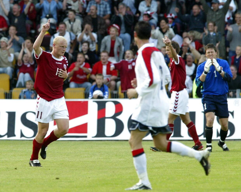 Danmark vinder en U21-landskamp over Norge 2-0 den 6. juni 2003. Tommy Bechmann lavede begge mål.