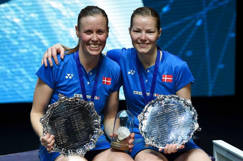 Christinna Pedersen og Kamilla Rytter Juhl efter All England-triumfen sidste år