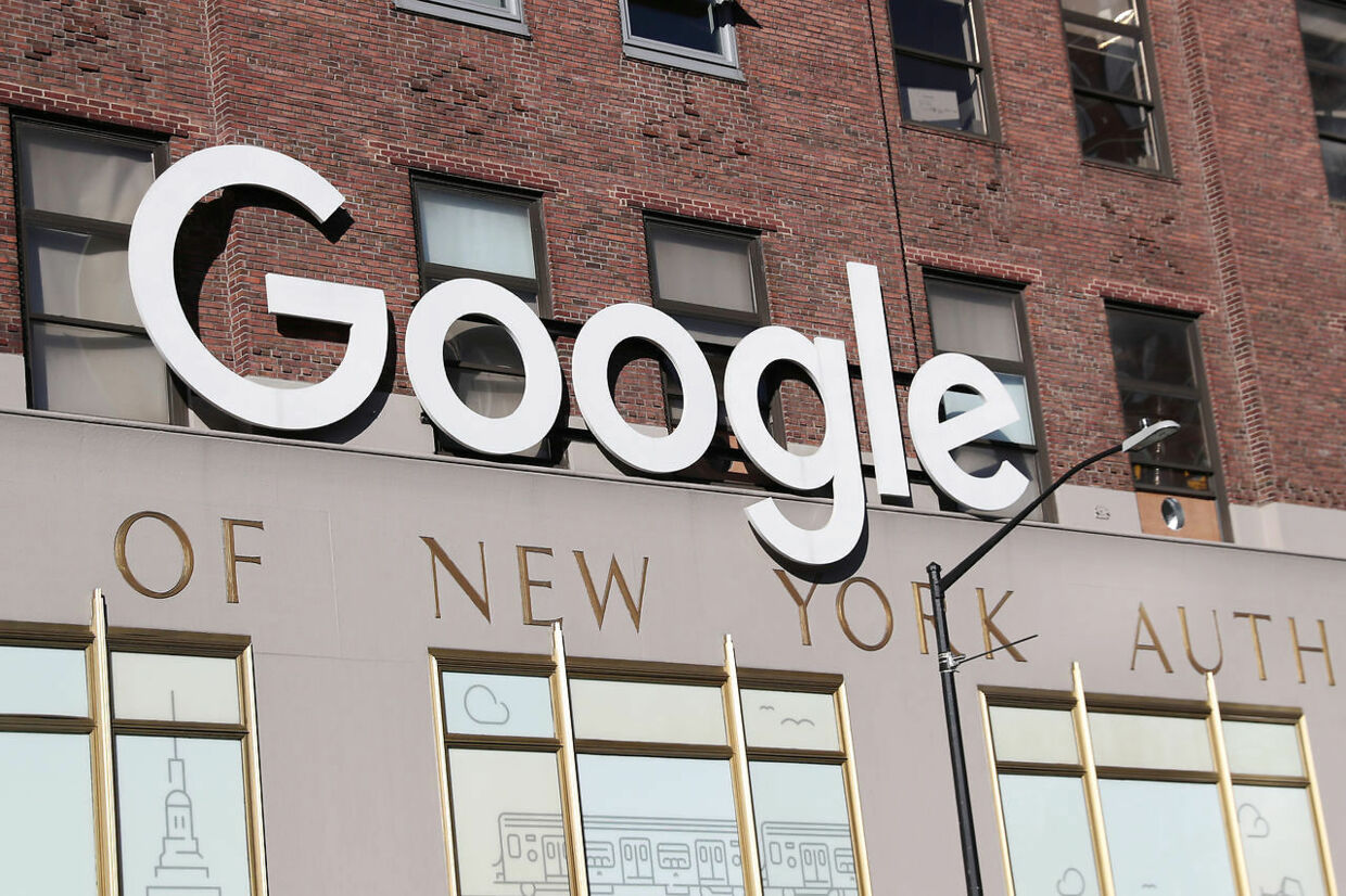 Google signage is seen at the Google headquarters in the Manhattan borough of New York City, New York, U.S., December 19, 2018. REUTERS/Shannon Stapleton
