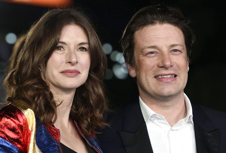 Jamie Oliver og hans hustru 'Jools'.