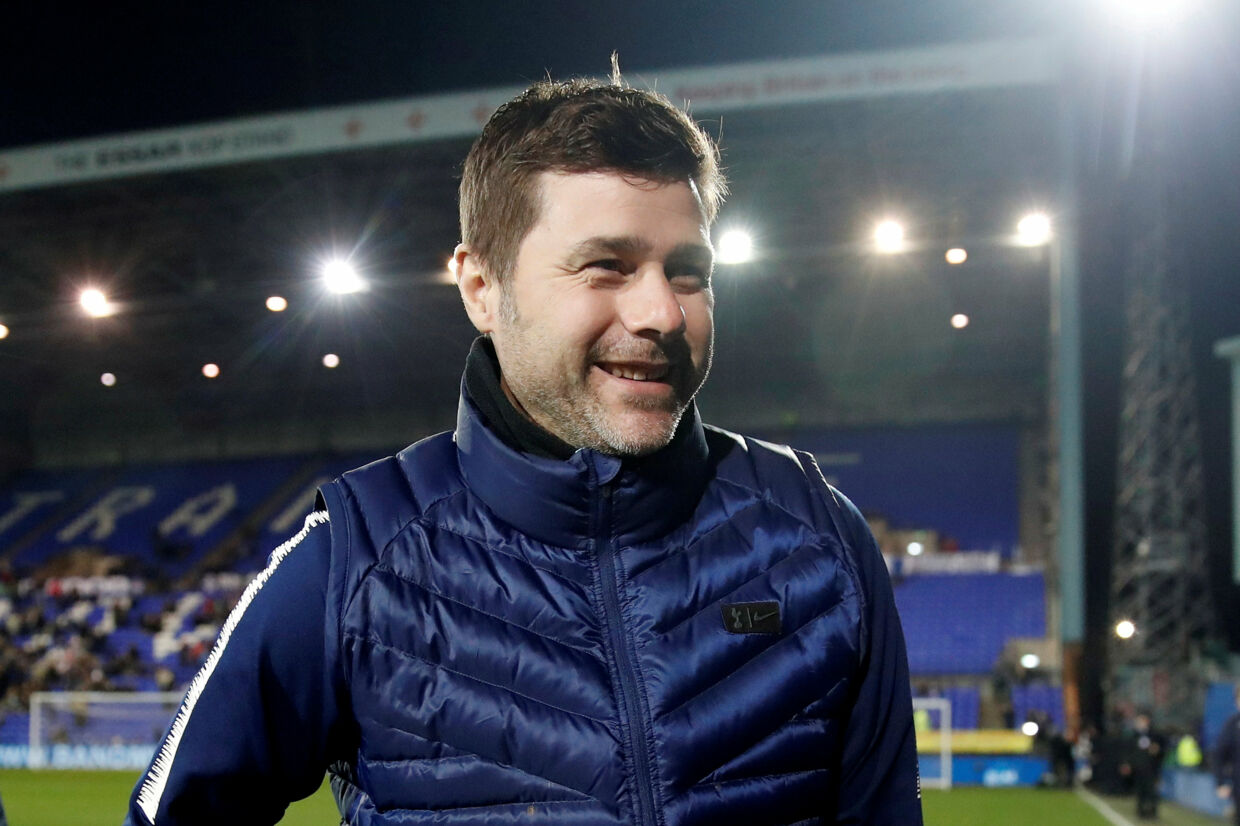 Mauricio Pochettino er glad for at være manager i Tottenham. Carl Recine/Ritzau Scanpix