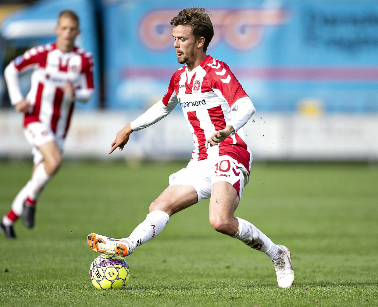 AaB's Lucas Andersen i aktion.