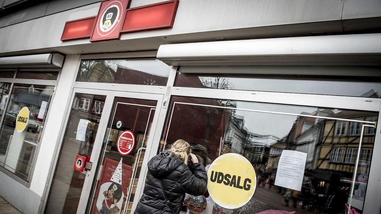 Lukket Fætter BR-butik i Svendborg, lørdag den 29. december 2018.