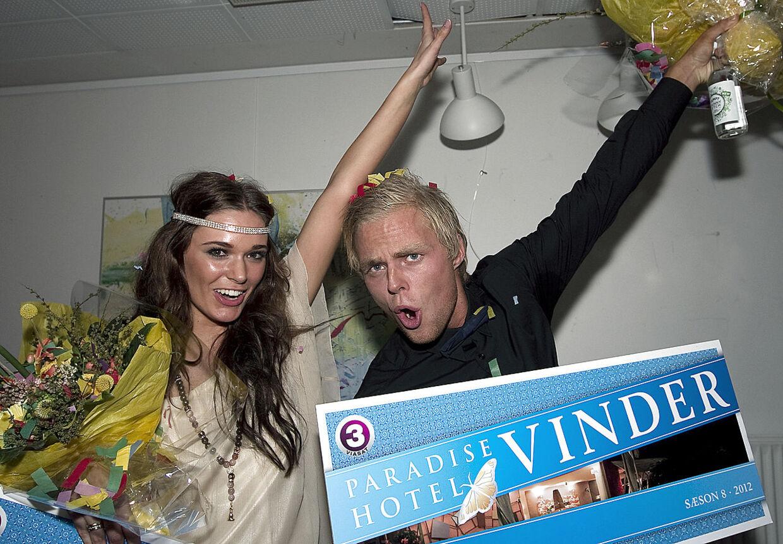 To tidligere vindere af 'Paradise Hotel'.