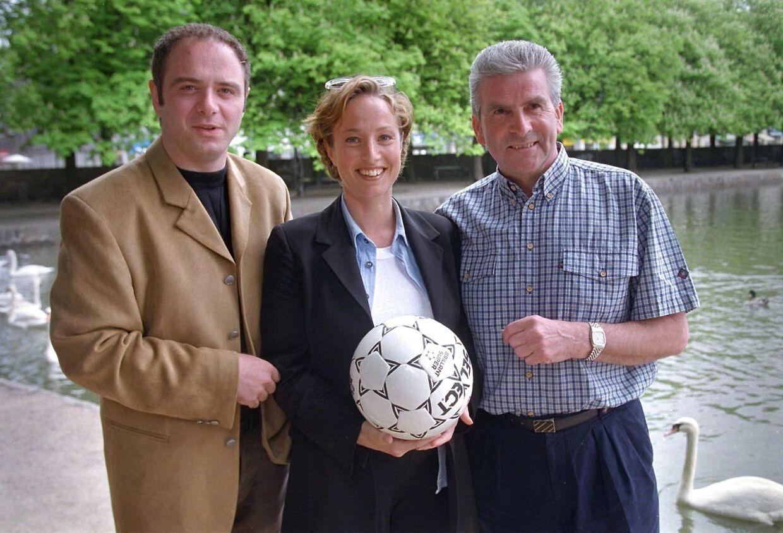 DR Ssportens VM-hold i 1998. Fra venstre Kent Nikolajsen, Natasja Crone og Tommy Troelsen.