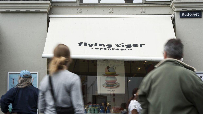 I 2017 åbnede hele 123 nye Flying Tiger Copenhagen butikker verden over. Her er forretningen på Kultorvet i København.