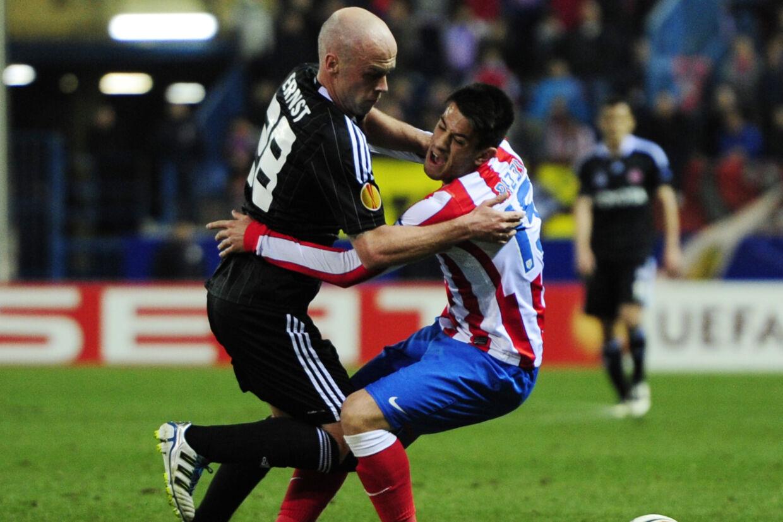 Fabian Ernst (tv.) er en af to nye ejere i Næstved Boldklub. Javier Soriano/Ritzau Scanpix