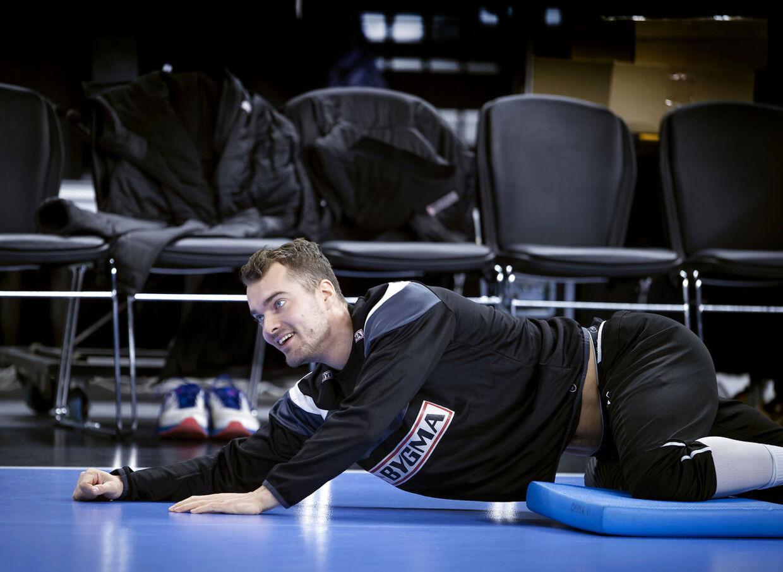 Casper U. Mortensen under træningen i Royal Arena onsdag den 9. januar 2019.