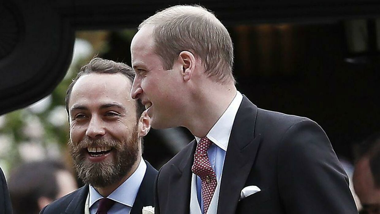 James Middleton og Prins William. 20. maj 2017.