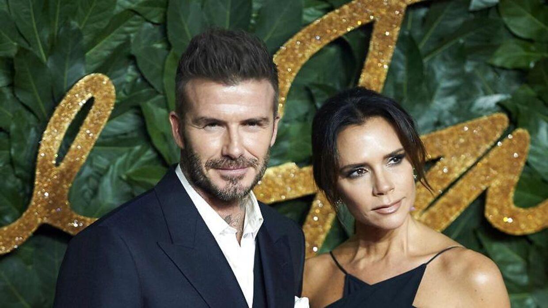 David Beckham med sin kone, Victoria.