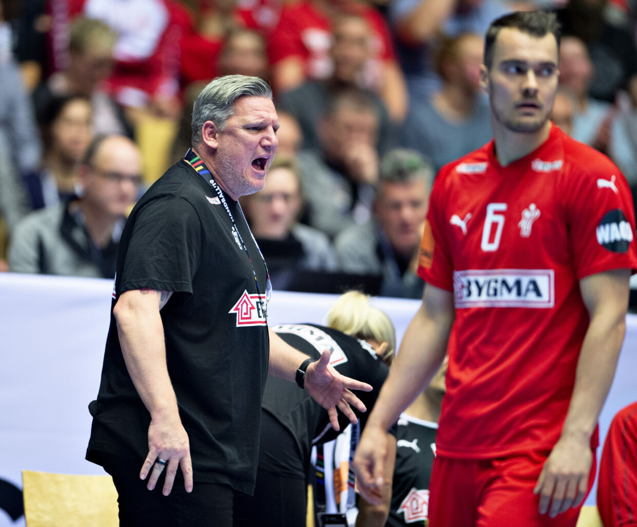coach Nikolaj Jacobsen of Denmark during the men's IHF Handball World Championship Group C match between Denmark and Tunisia in Herning, Denmark, Saturday, Jan. 12, 2019.. (Foto: Henning Bagger/Ritzau Scanpix)