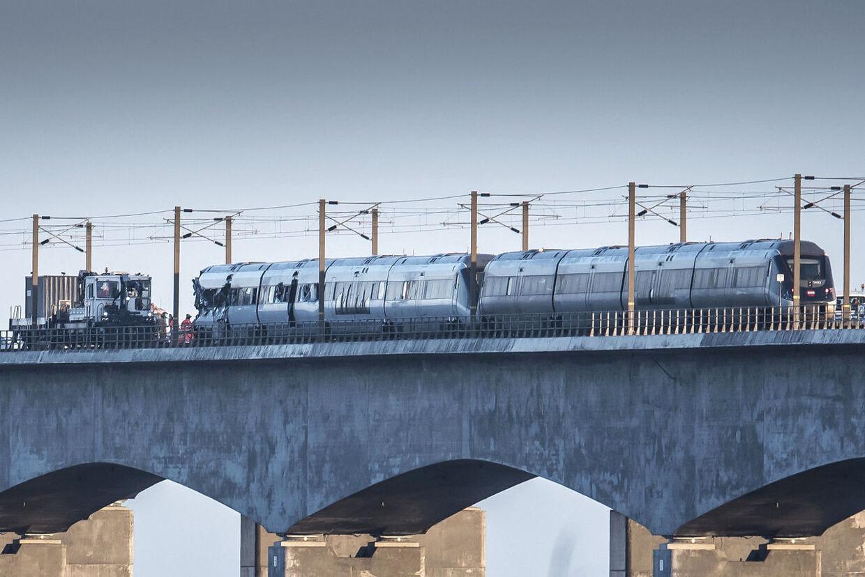 Togulykke på Storebæltsbroen onsdag den 2. januar 2019.