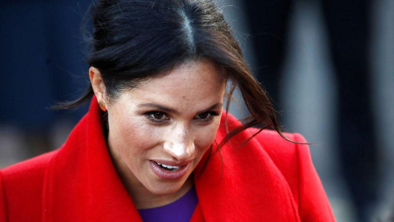 Hertuginde Meghan afslørede selv, hvor langt hun er henne under et besøg mandag på Hamilton Square i Birkenhead ved Liverpool.